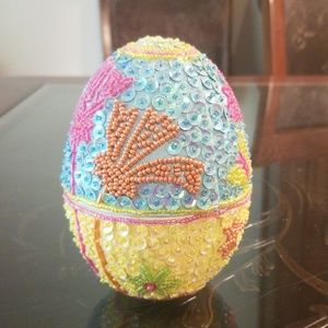 Sequin Easter Egg with Suprise inside